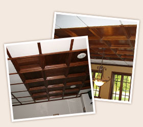 Wood Trim Molding with Some Coffers