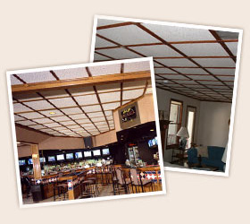 Wood Trim Moldings with Standard Ceiling Tiles